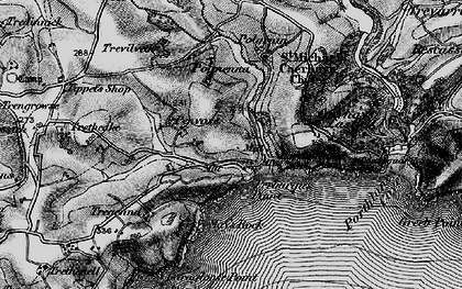 Old map of West Portholland in 1895