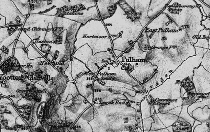 Old map of West Pulham in 1898