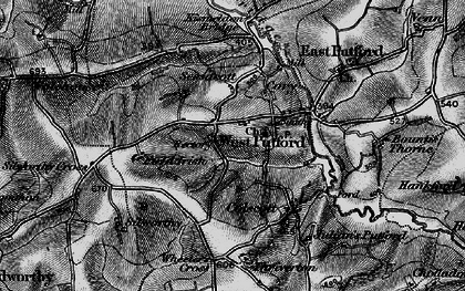 Old map of West Putford in 1895