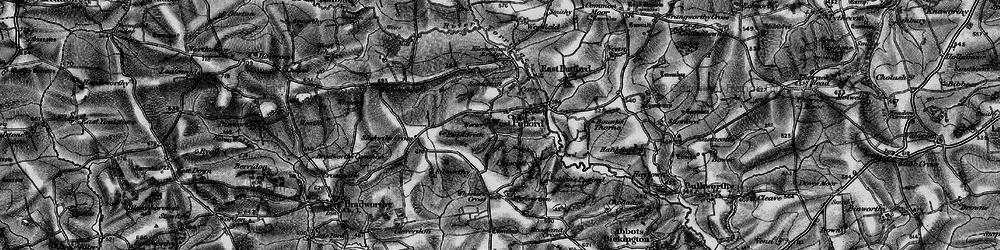 Old map of West Putford in 1895