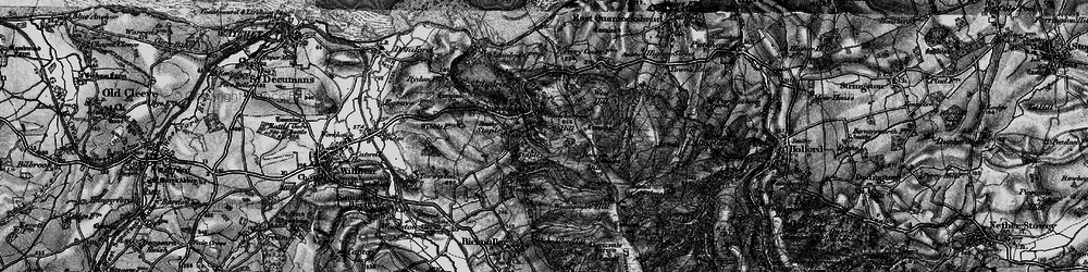 Old map of West Quantoxhead in 1898