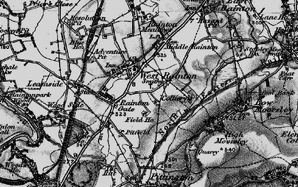 Old map of West Rainton in 1898