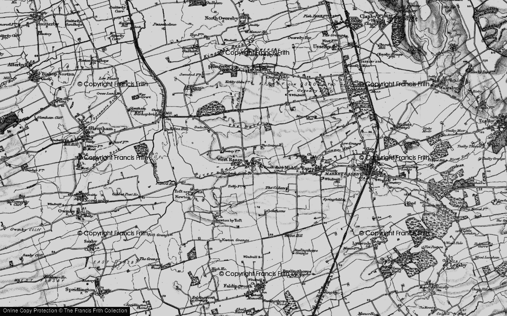 Old Map of West Rasen, 1898 in 1898