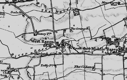 Old map of West Rasen in 1898