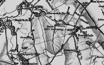 Old map of West Ravendale in 1899