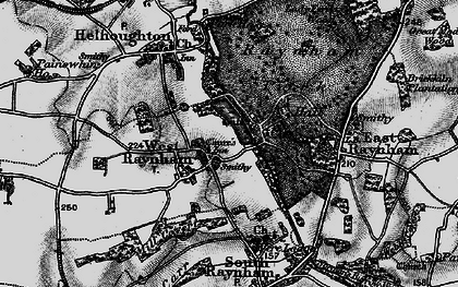 Old map of West Raynham in 1898