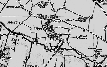 Old map of West Row in 1898