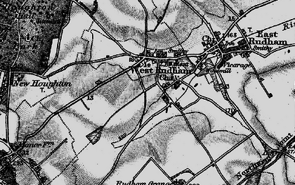 Old map of West Rudham in 1898