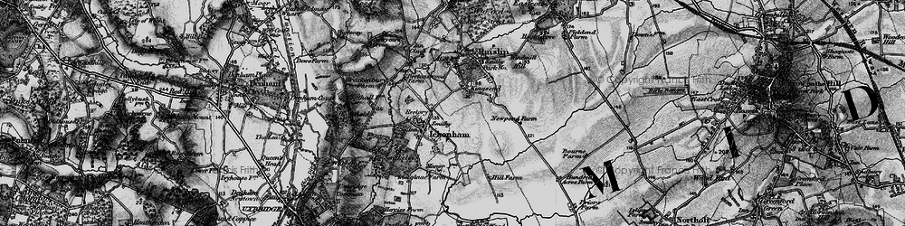 Old map of West Ruislip in 1896