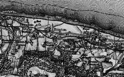 Old map of West Runton in 1899