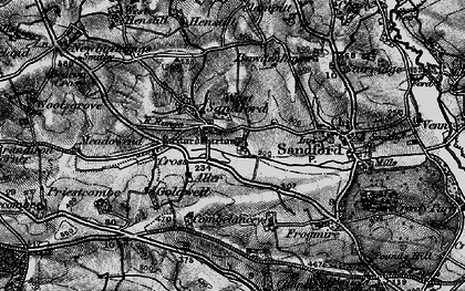 Old map of Aller Barton in 1898