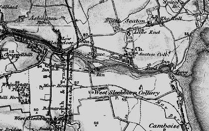 Old map of West Sleekburn in 1897