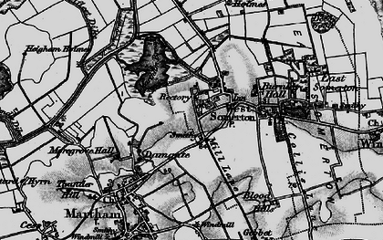 Old map of West Somerton in 1898