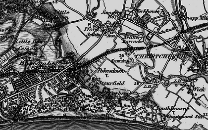 Old map of West Southbourne in 1895