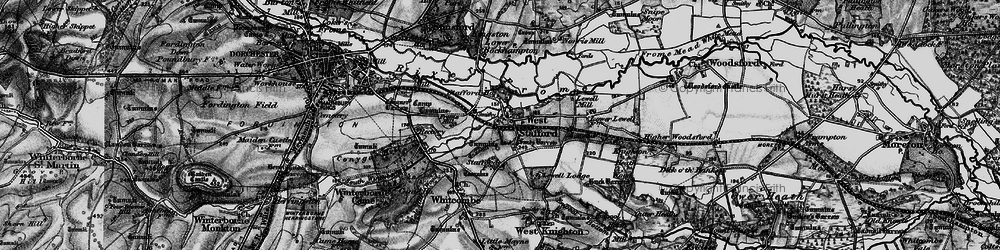 Old map of West Stafford in 1897