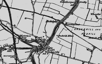 Old map of West Stockwith in 1895