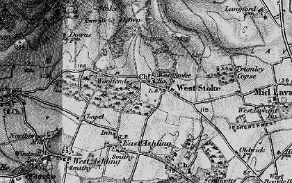 Old map of West Stoke in 1895