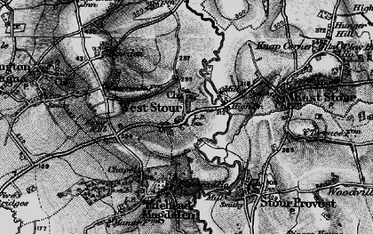 Old map of West Stour in 1898