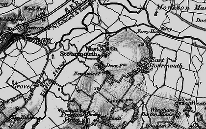 Old map of West Stourmouth in 1895