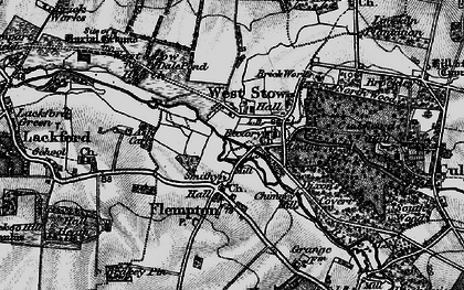 Old map of West Stow Heath in 1898