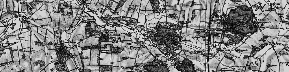 Old map of West Stow in 1898