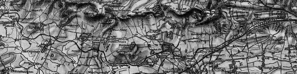 Old map of West Stowell in 1898