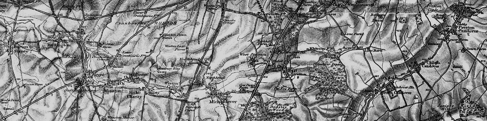 Old map of West Stratton in 1895