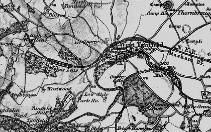 Old map of West Tanfield in 1897