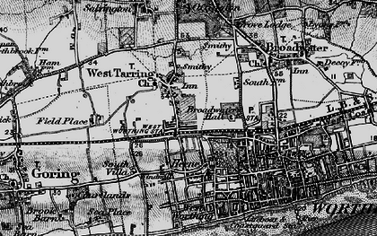 Old map of West Tarring in 1895