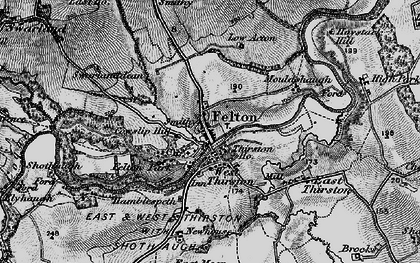 Old map of West Thirston in 1897