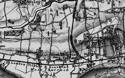 Old map of West Thurrock in 1896