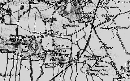 Old map of West Tilbury in 1896
