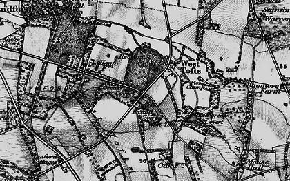 Old map of West Tofts Heath in 1898