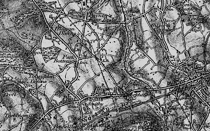 Old map of West Tolgus in 1896