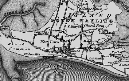 Old map of West Town in 1895