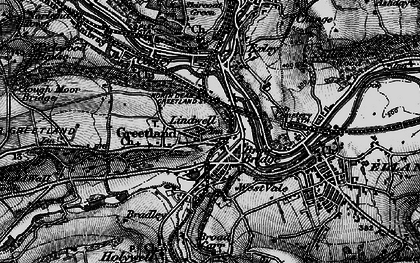 Old map of West Vale in 1896