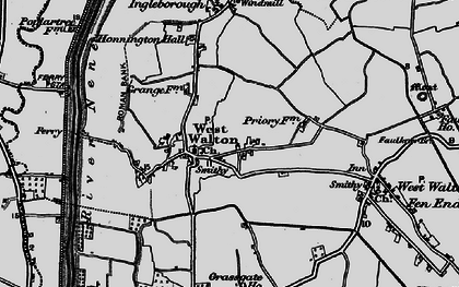 Old map of West Walton in 1898