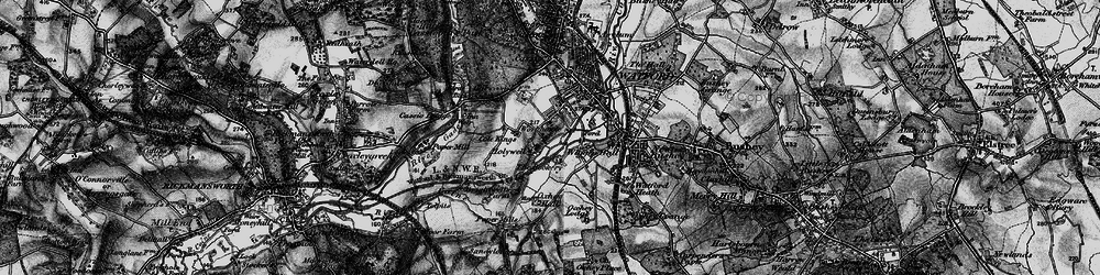 Old map of West Watford in 1896