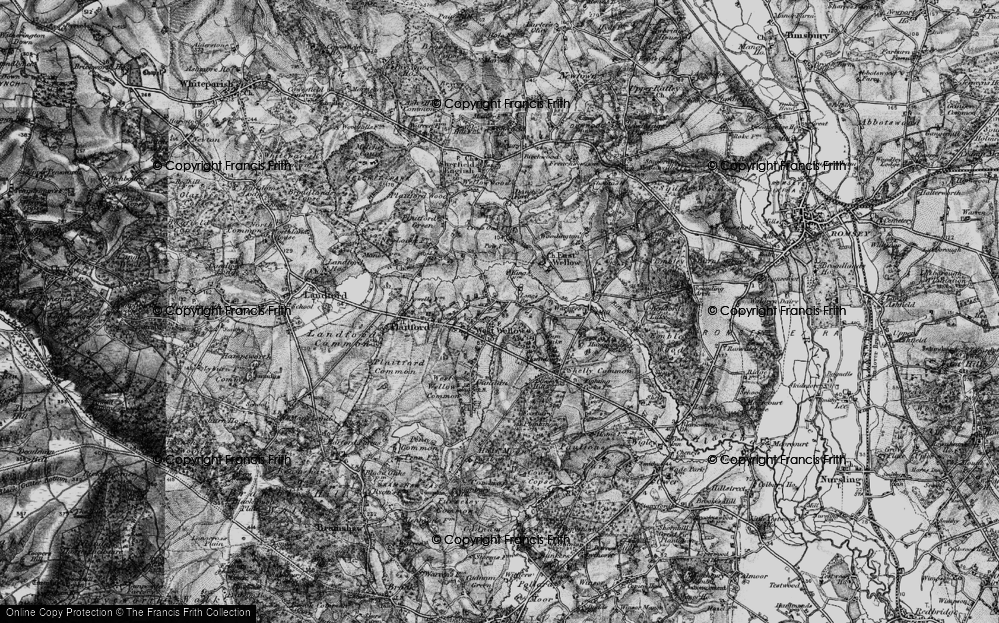 Old Map of West Wellow, 1895 in 1895