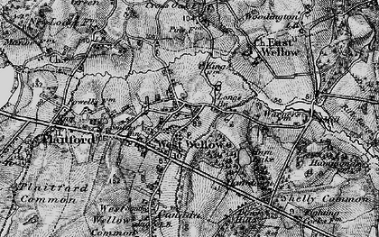 Old map of West Wellow in 1895
