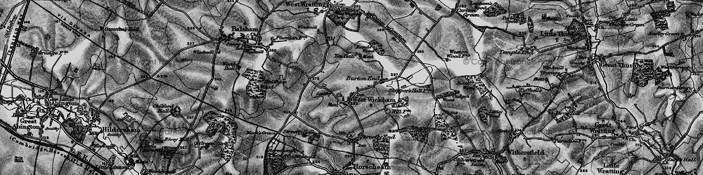 Old map of West Wickham in 1895