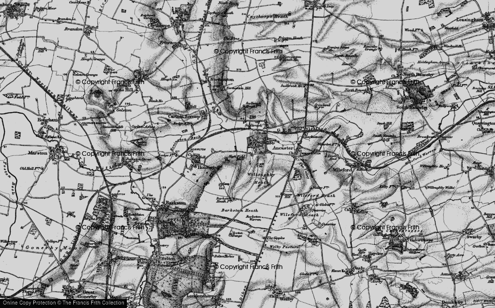 Old Map of Historic Map covering Willoughby Heath in 1895