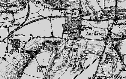 Old map of Willoughby Heath in 1895
