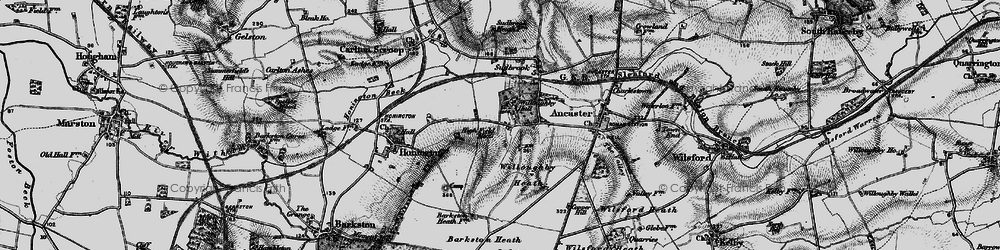 Old map of West Willoughby in 1895