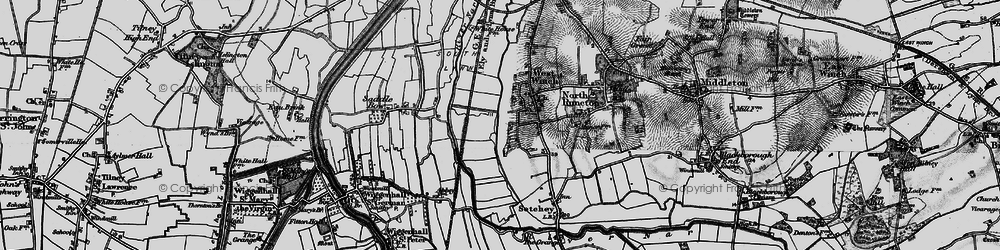 Old map of West Winch in 1893