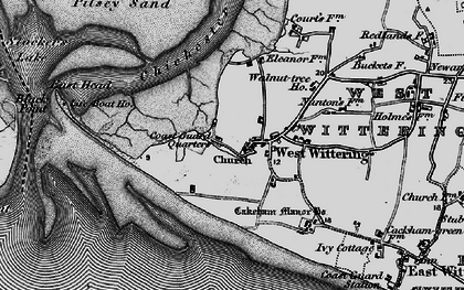 Old map of West Wittering in 1895