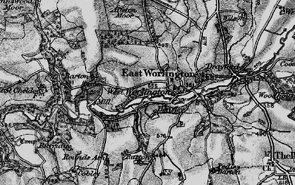 Old map of Affeton Moor in 1898