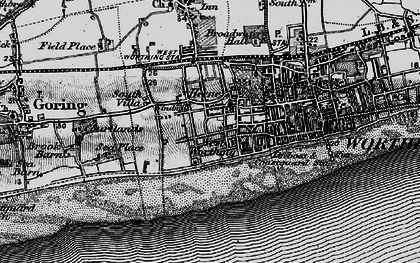 Old map of West Worthing in 1895