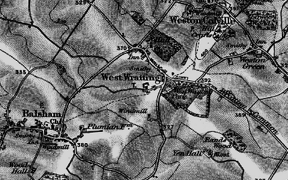 Old map of West Wratting in 1895