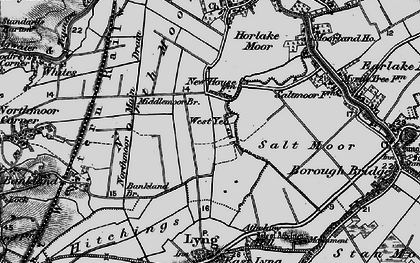 Old map of West Yeo in 1898